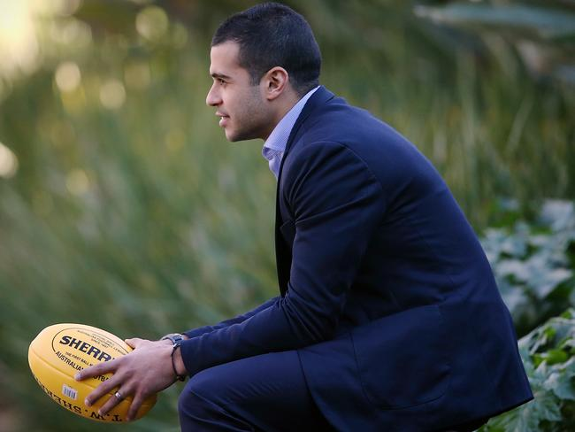 Ahmed Saad poses for the Sunday Herald Sun Picture: Wayne Ludbey.