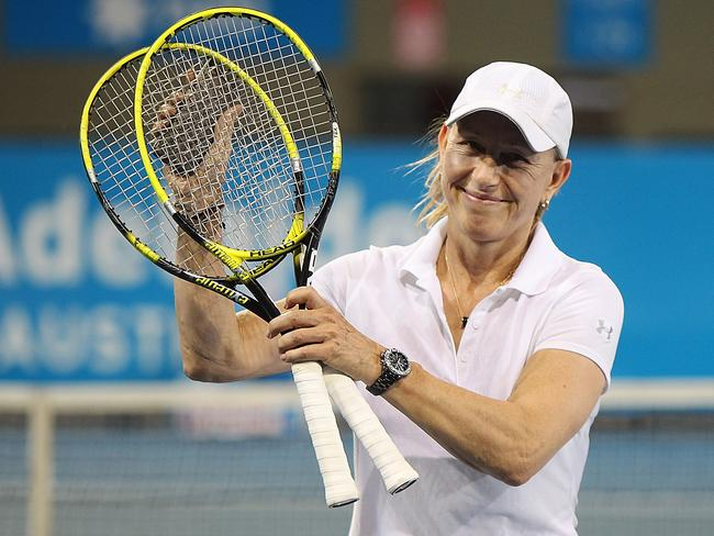 Czech legend Martina Navratilova.