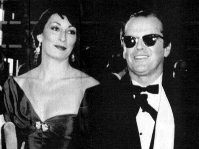 Enduring love affair: Actor Jack Nicholson with Anjelica Huston.