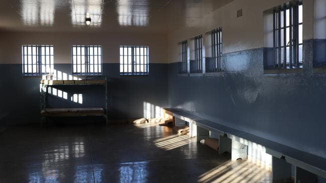 Former political prisoner Sipho Msomi spent five years in Robben Island prison in a shared cell (pictured) and a total of five months in solitary confinement. Picture: Megan Palin