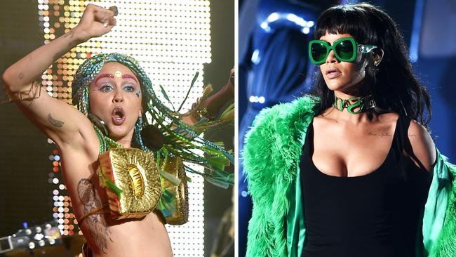 Rihanna's label shunned one of Miley's biggest-selling hits, We Can't Stop. Picture: Getty Images