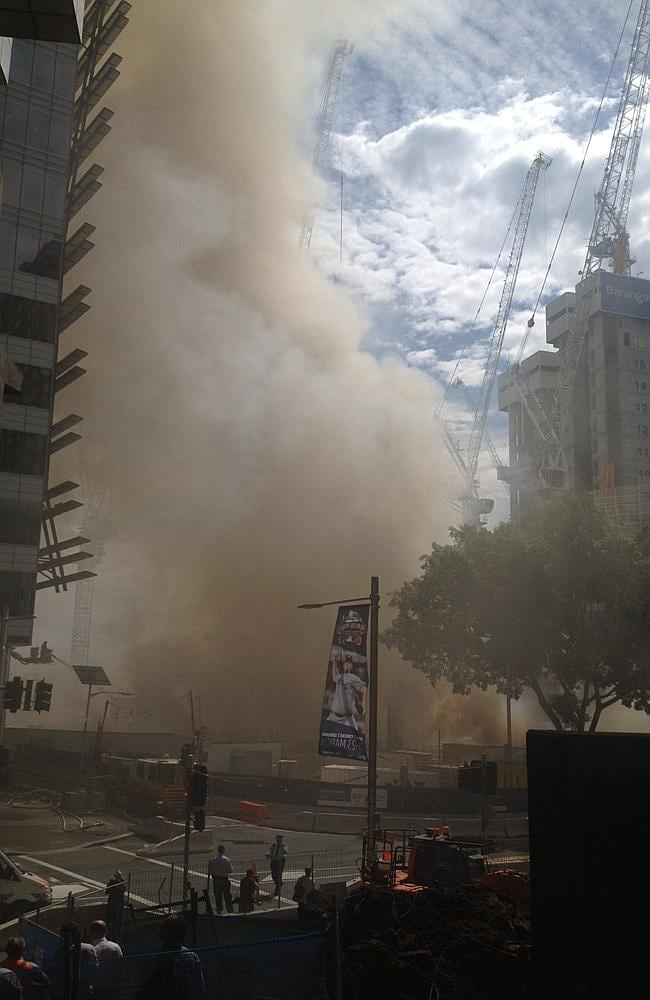 There are concerns the smoke from the Barangaroo fire is toxic.
