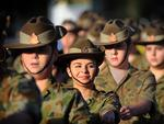 Ipswich Army Cadets marched in the Goodna Anzac Day Parade. Photo: Patria Jannides