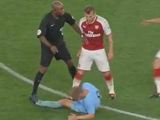 Jack Wilshere lost his cool in an under-23s match.