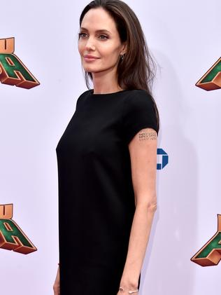 Angelina Jolie hit the red carpet on her own. Picture: Alberto E. Rodriguez/Getty Images