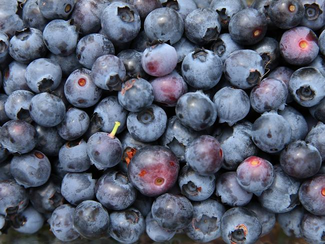 Superfood blueberry sauce replaces other calorie-laden choices.