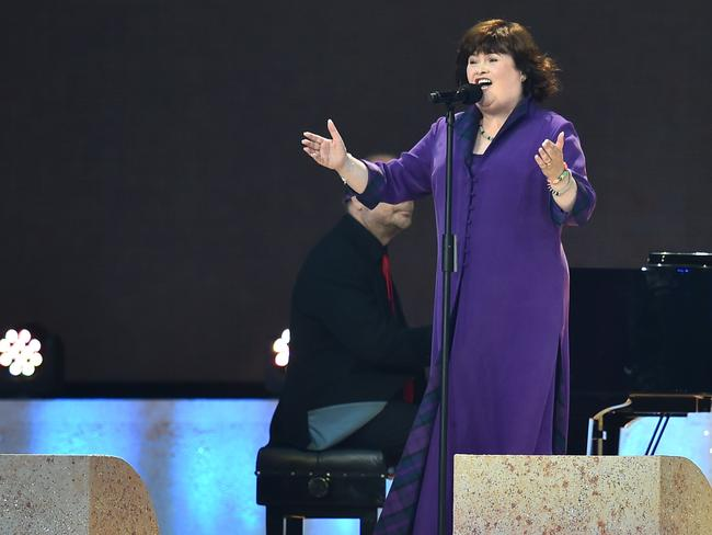 Singer Susan Boyle performs during the opening ceremony.