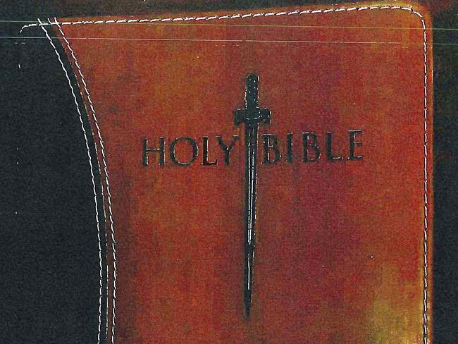 A Bible found in the cell of former New England Patriots player Aaron Hernandez.