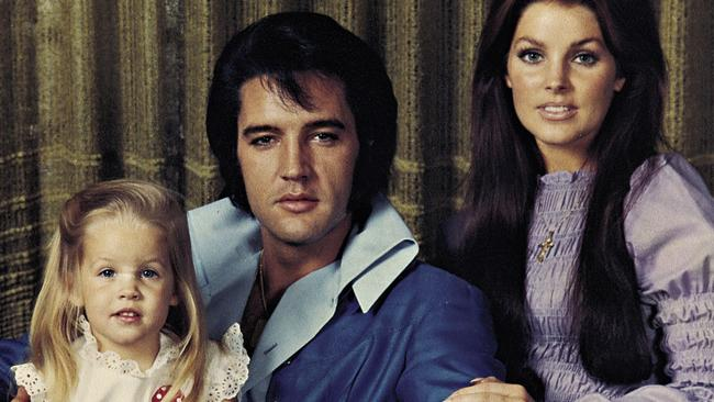 Elvis Presley with wife Priscilla and daughter Lisa-Marie.