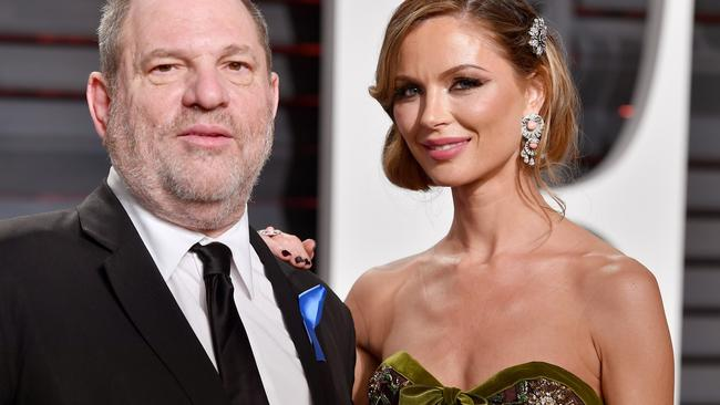 Harvey Weinstein and Georgina Chapman, who has left him. Pic: Getty