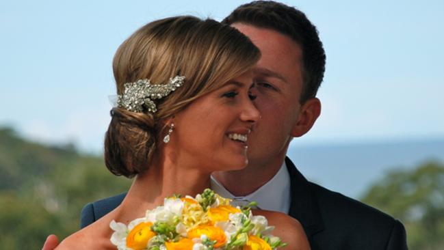 Stunning bride ... Seven's Jodie Speers and The Today Show's Ben Fordham on their wedding day in 2011. Picture: Today Show