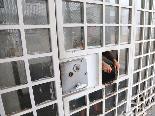 An inmate inside a cell in Silverwater Correctional Centre, where serious women offenders are held in protection in the female jail. Picture: Adam Taylor