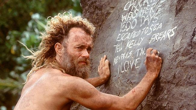 The man claims to have been at sea for 16 months. Pictured, Tom Hanks in Castaway.