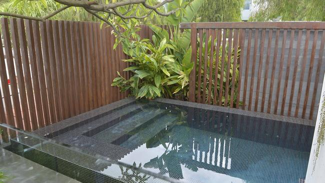 The plunge pool at the Perth Bungalow. Supplied by Foxtel