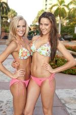 <p>Miss USA 2009 Kristen Dalton (R) and Miss Australia 2009 Rachael Finch pose in their swimsuits from BSC Swimwear during the 2009 Miss Universe Competition at Atlantis, Paradise Island in the Bahamas</p>