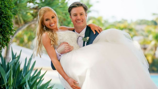 Troy and Ashley. Photo: Channel 9.