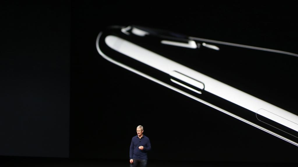 Apple CEO Tim Cook is expected to reveal the iPhone 8 in September. Picture: Stephen Lam/Getty Images.