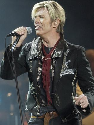 2003 ... David Bowie launching his worldwide 'A Reality Tour'. Picture: AP Photo/Kathy Willens