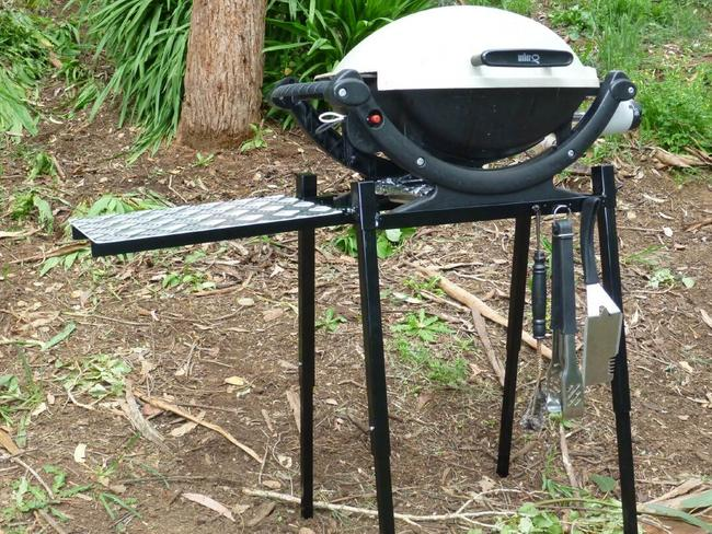 A baby Weber Q barbecue, just like this one, is the alleged culprit.