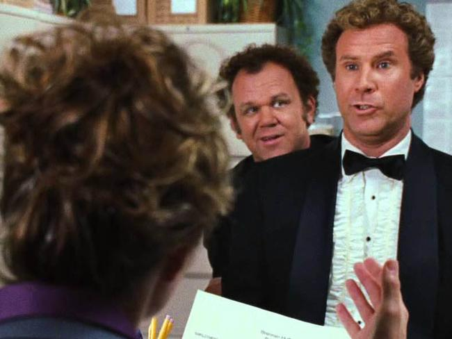 Job interview scene from Step Brothers.
