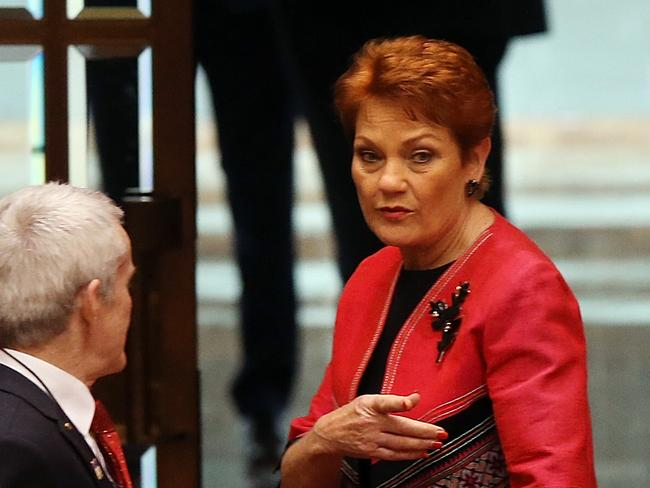 Pauline Hanson's One Nation saw its primary vote increase from 9 to 11 per cent, according to the latest Newspoll. Picture: Supplied.