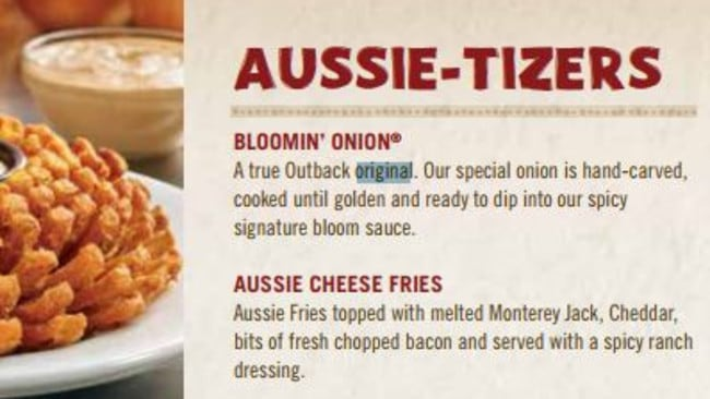 Outback steakhouse apologises for using ab original in for Australian cuisine menu