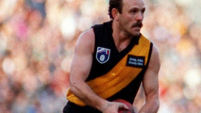 04/07/1993. Dale Weightman. Richmond v Collingwood. Picture: Darren Tindale
