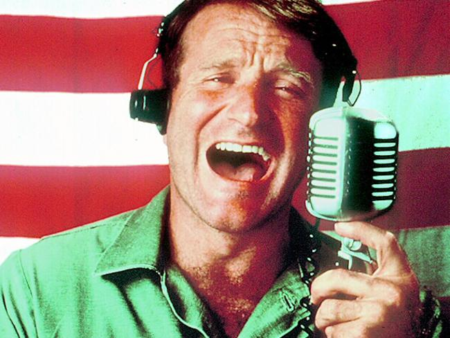 Robin Williams in Good Morning, Vietnam.