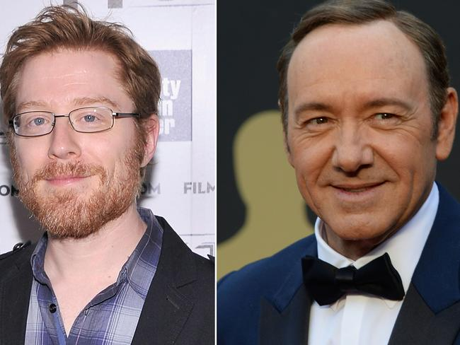 Anthony Rapp (L) first accused Kevin Spacey of coming on to him when he was 14. Picture: AFP