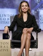 <p>Actor Angelina Jolie participates during a panel discussion at the Clinton Global Initiative Annual Meeting in New York, 2007.</p>