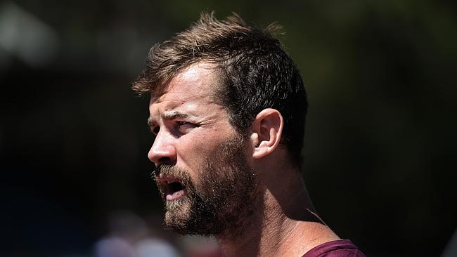 Manly Sea Eagles training with Brenton Lawrence.