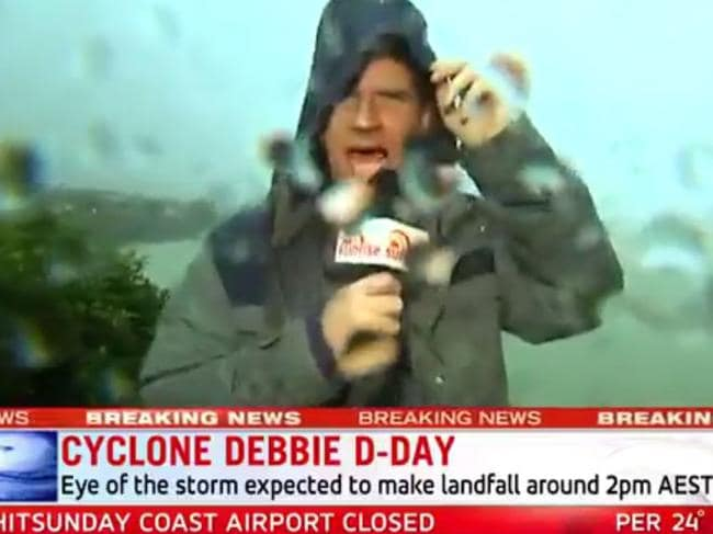 Why TV presenters flocked to cyclone