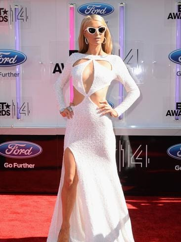 Paris Hilton attends the BET AWARDS '14. Picture: Getty