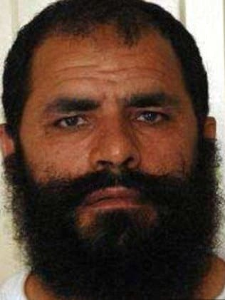 Handover ... Mohammad Fazi who was freed from Guantanamo Bay in exchange for Bowe Bergdahl.