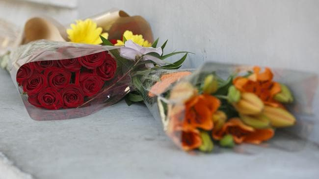 Floral tributes have been left for the boy. Photo: Tim Pascoe