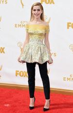 Kiernan Shipka attends the 67th Annual Primetime Emmy Awards in Los Angeles. Picture: Getty