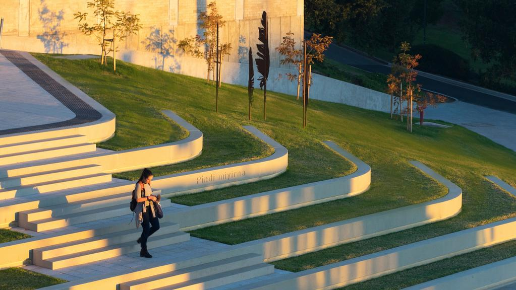 Flinders Universitys new terraced amphitheatre and sustainable