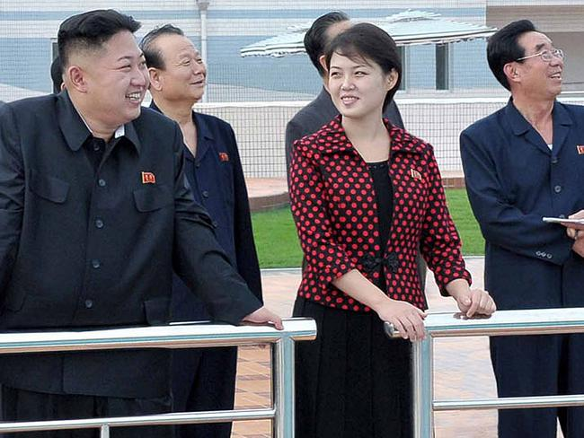 The First Lady, pictured in 2012 shortly after her marriage to Kim Jong-un, has a penchant for Western fashion and designer goods. Picture: AFP / KCNA via KNS