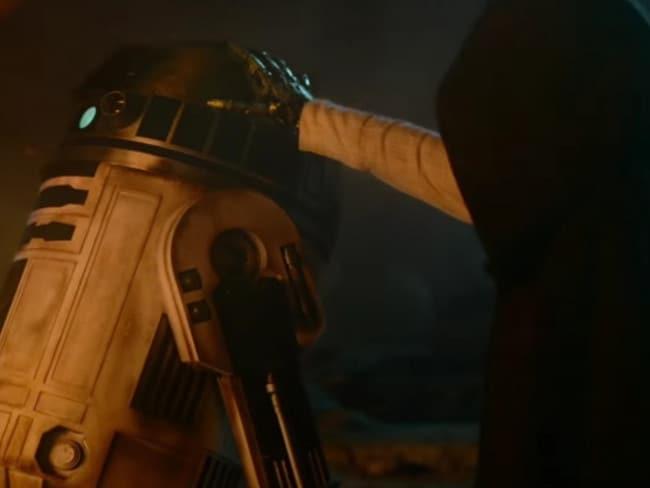 Is this Luke Skywalker? ... A still from The Force Awakens trailer. Picture: Supplied