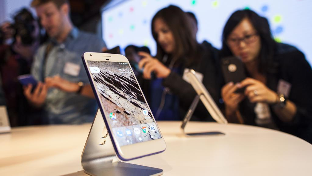 Google will release what it calls its first smartphone, the Google Pixel, in Australia on October 20. Picture: Ramin Talaie/Getty Images/AFP