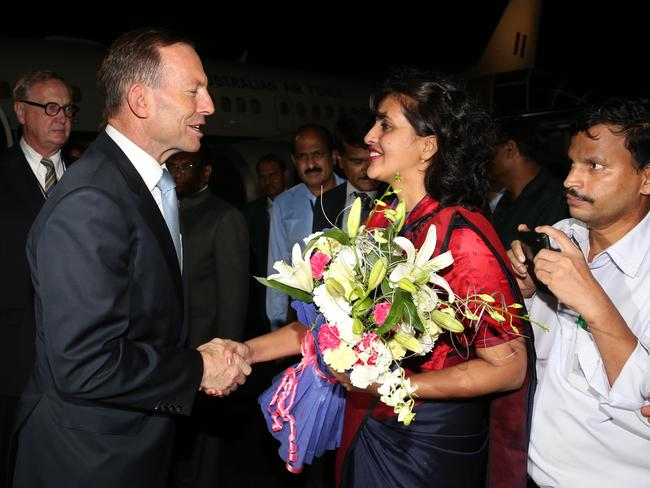 Prime Minister Tony Abbott arrives in Mumbai for his two-day official visit to India.