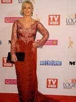 Amanda Keller during the Red Carpet Arrivals ahead of the 56th TV Week Logie Awards 2014 held at Crown Casino on Sunday, April 27, 2014 in Melbourne, Australia. Picture: Jason Edwards