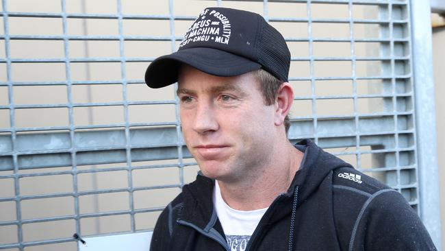 Steve Johnson thinks he is a chance to play in Geelong's clash against Carlton. Picture: Glenn Ferguson
