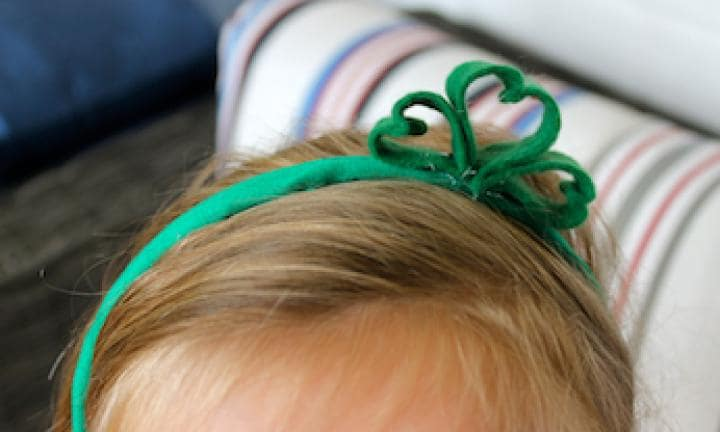 Simple St Patrick's Day headpiece