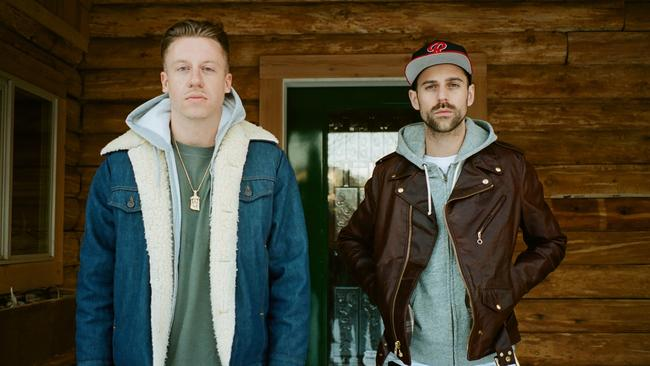 Macklemore and Ryan Lewis wanted some uneasy listening on their new album. Picture: Supplied.