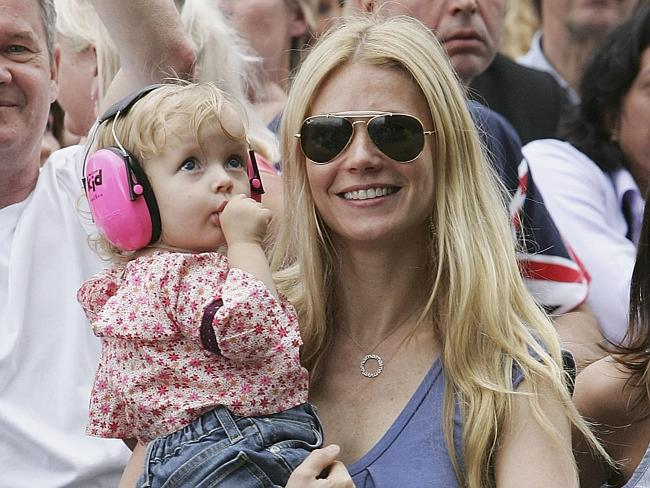 Gwyneth Paltrow and daughter Apple in 2005.
