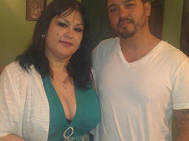 Half the woman she used to be, Mayra Rosales, pictured with her cousin.