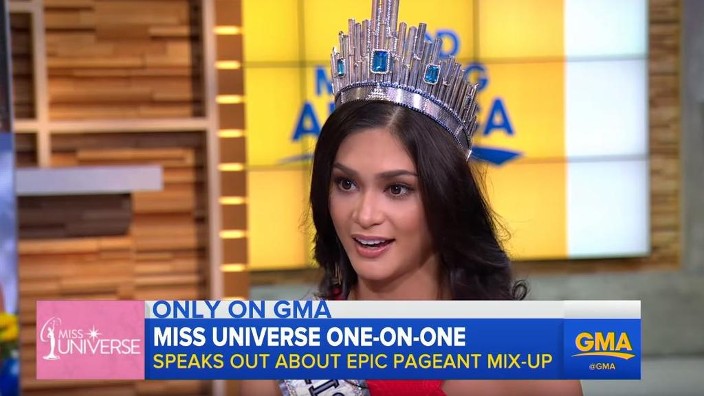 Good Morning America Home Invasion Interview : Miss universe pia wurtzbach won t share her crown with