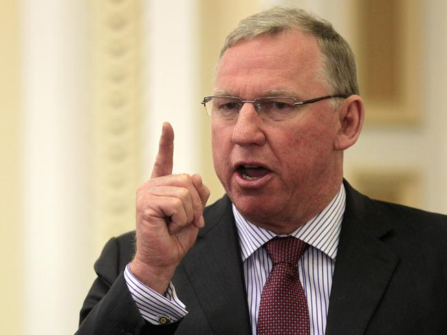 Queensland Planning Minister and Deputy Premier Jeff Seeney laying down the law.