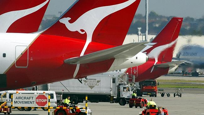 The first wave of staff cuts will happen at Qantas today.